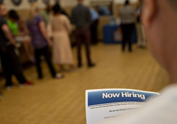 US jobs surge